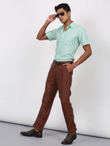 Grey Plain Smart Fit Trouser