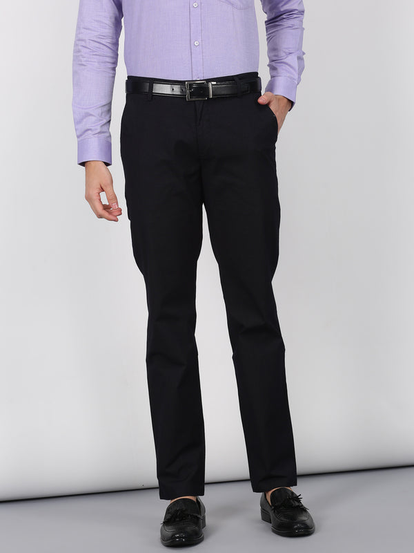 Black Plain Smart Fit Trouser