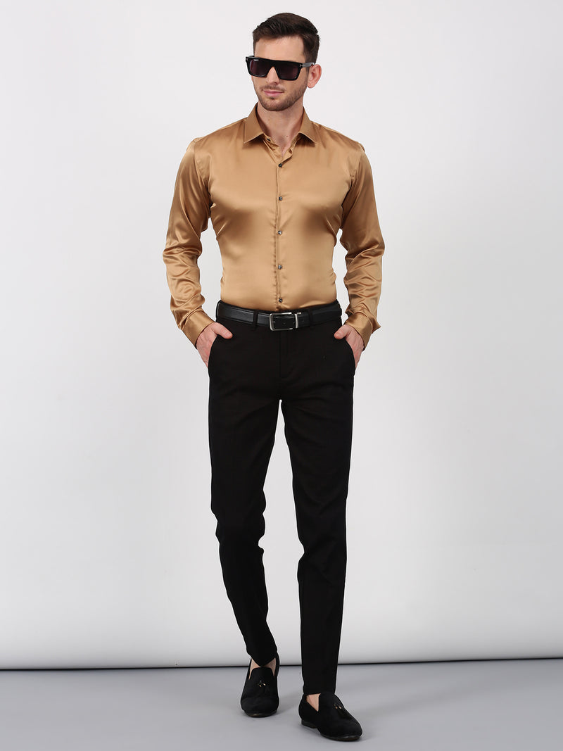 Brown Checked Sleek Fit Trouser