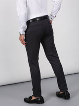 Dark Grey Plain Sleek Fit Trouser