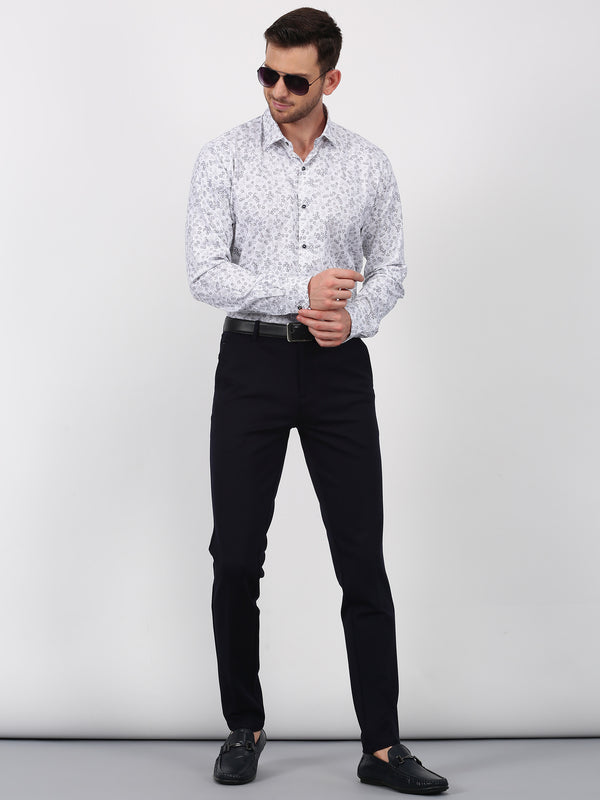 Navy Plain Sleek Fit Trouser