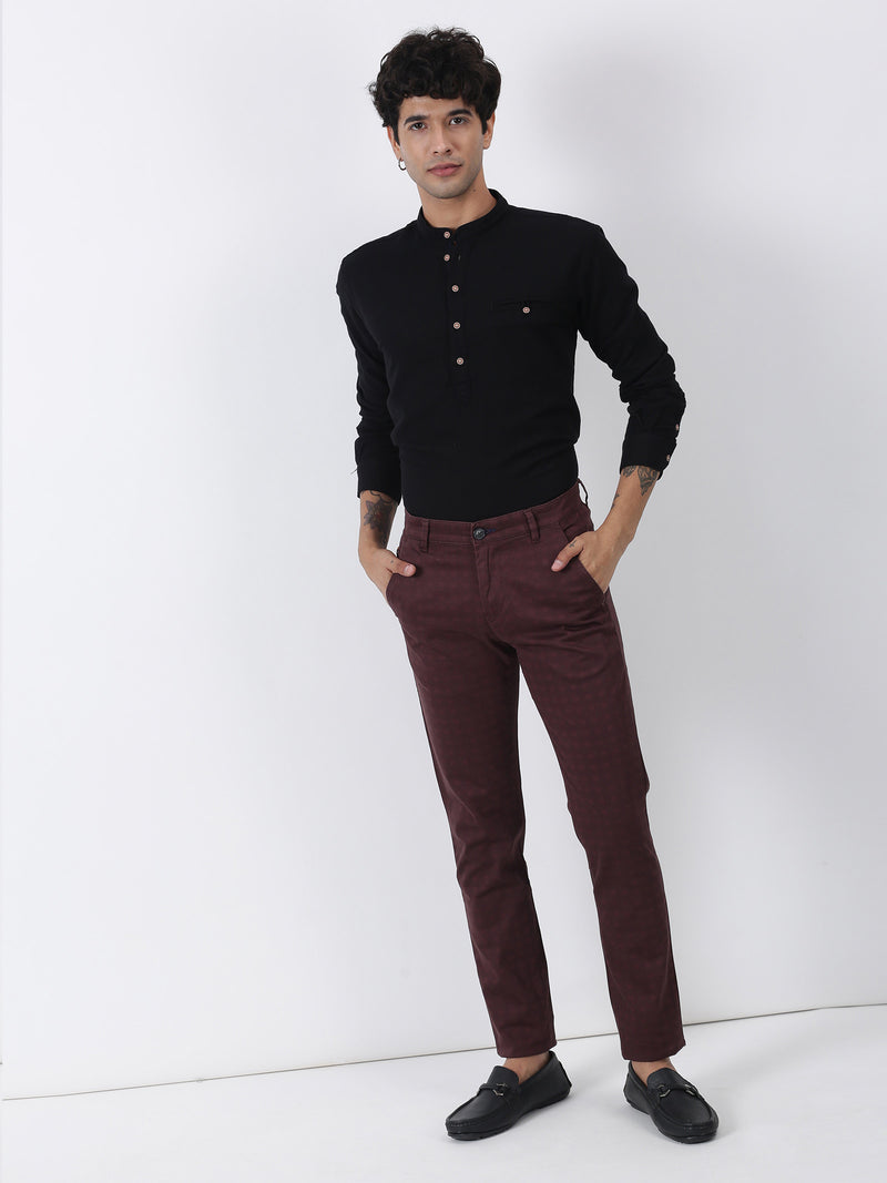 Red Checked Ultra Slim Fit Trouser