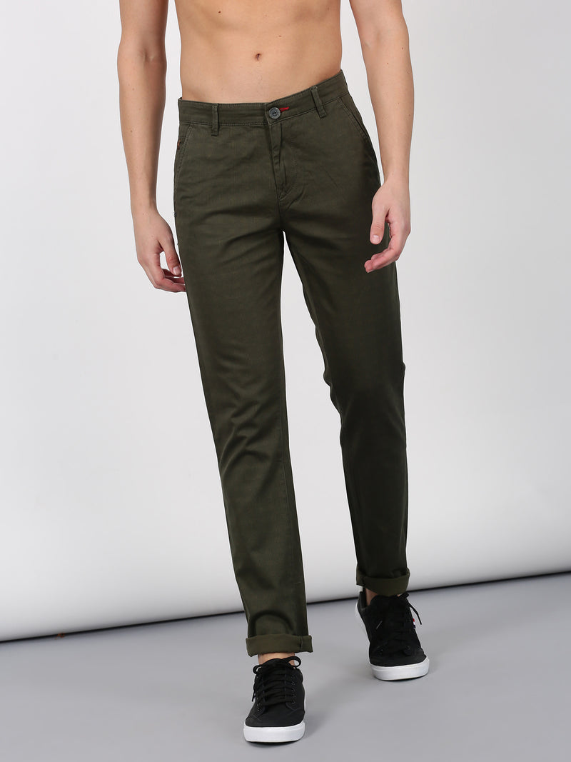 Green Checked Ultra Slim Fit Trouser