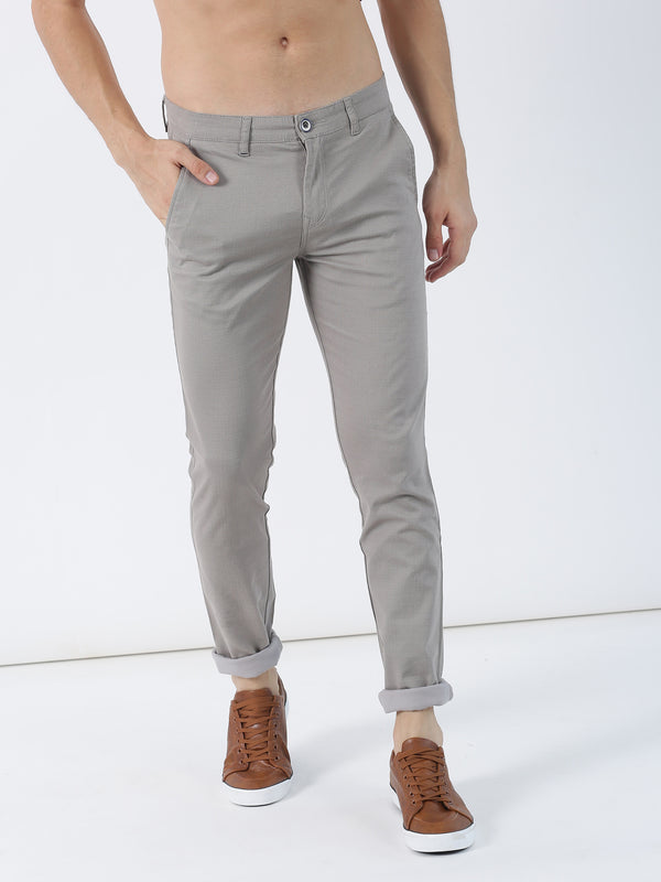 Grey Printed Ultra Slim Fit Trouser