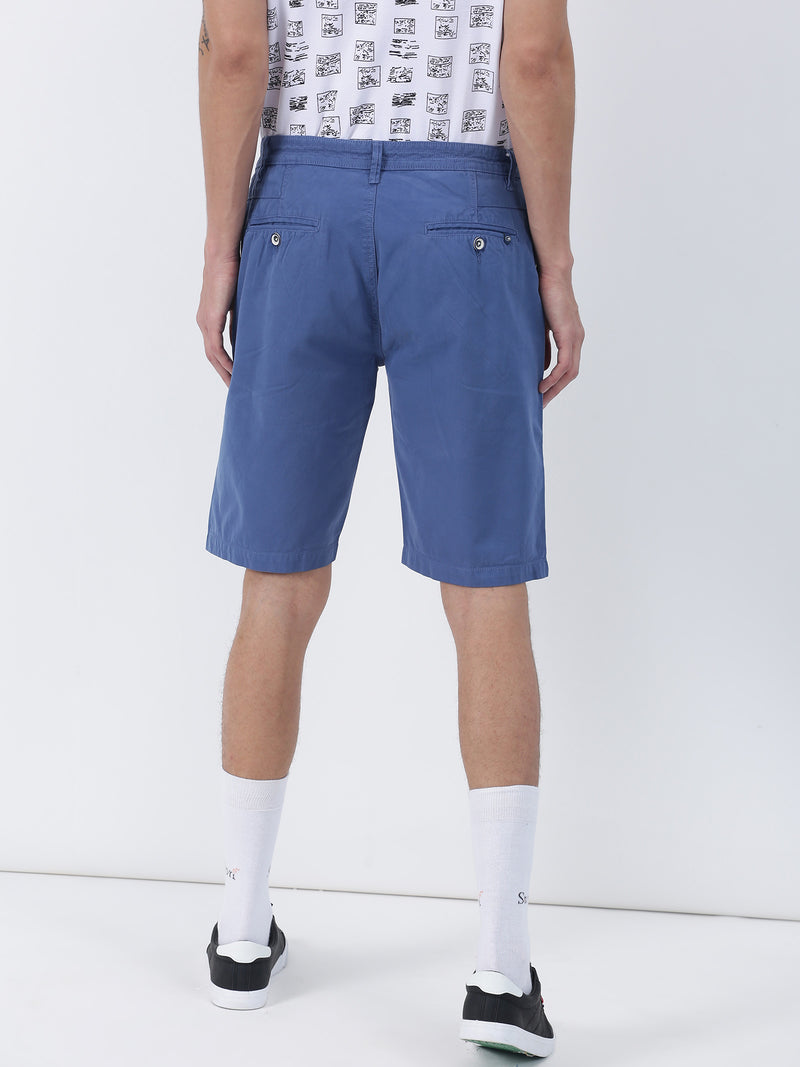 Navy Plain Casual Short