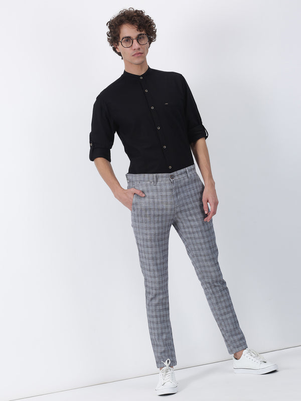 Black Checked Ultra Slim Fit Trouser