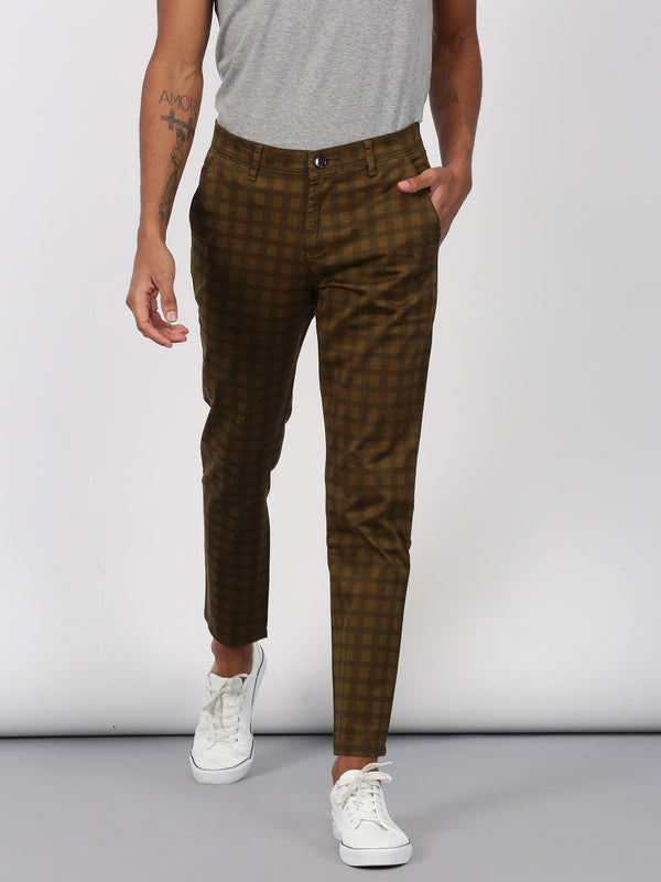 Green Printed Ultra Slim Fit Trouser
