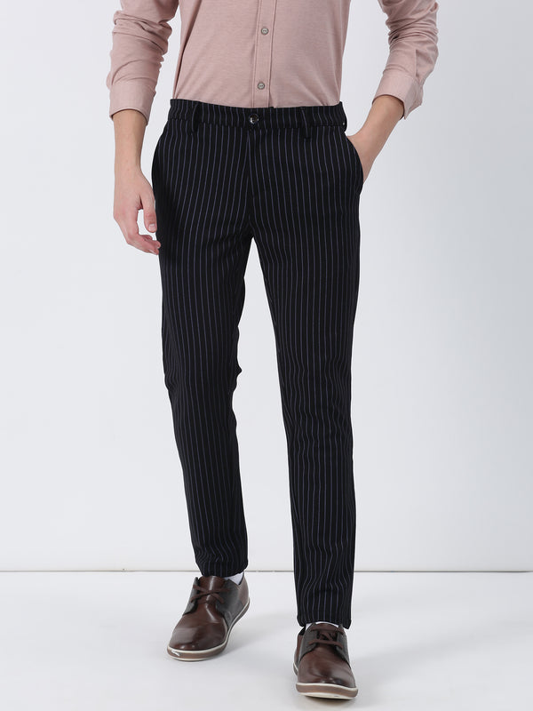 Black Striped Ultra Slim Fit Trouser