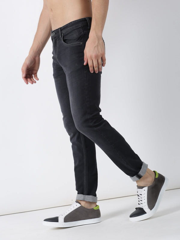 Carbon Black Plain Dean Fit Jeans