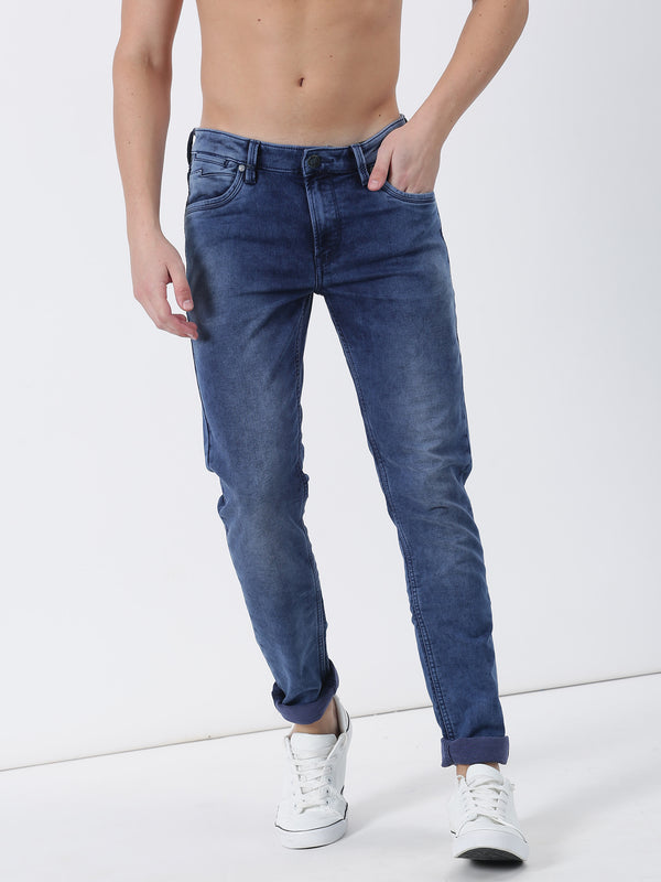 Blue Plain Dean Fit Jeans