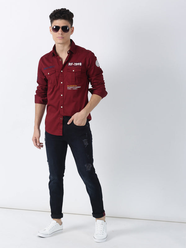 Navy Plain Dean Fit Jeans