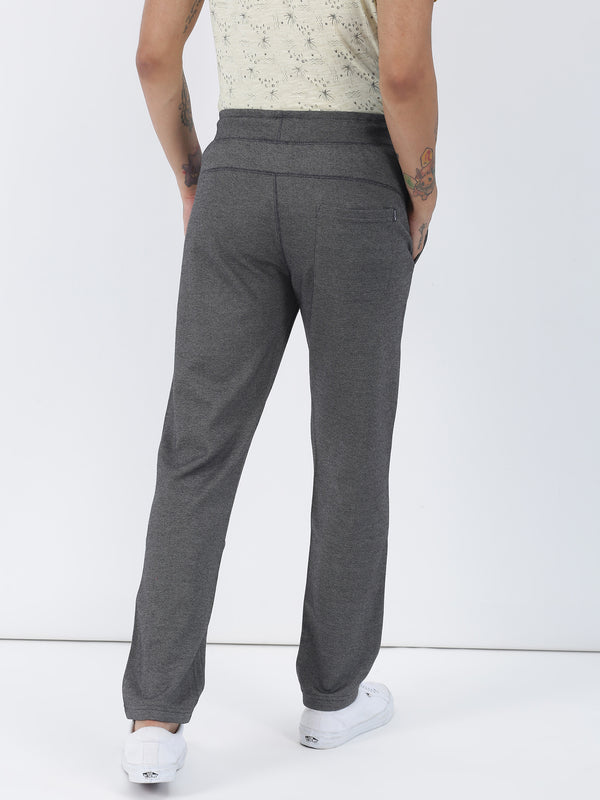 Anthra Melange Plain Casual Track Pant