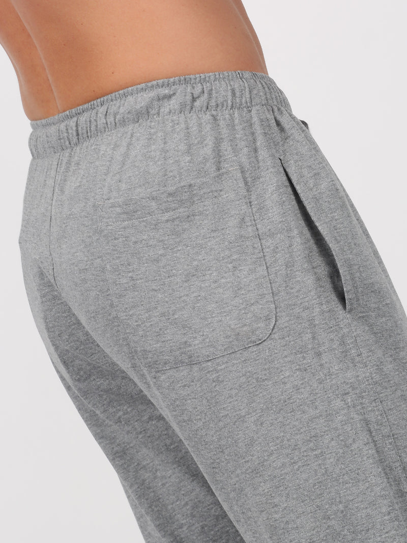 Light Grey Plain Casual Track Pant