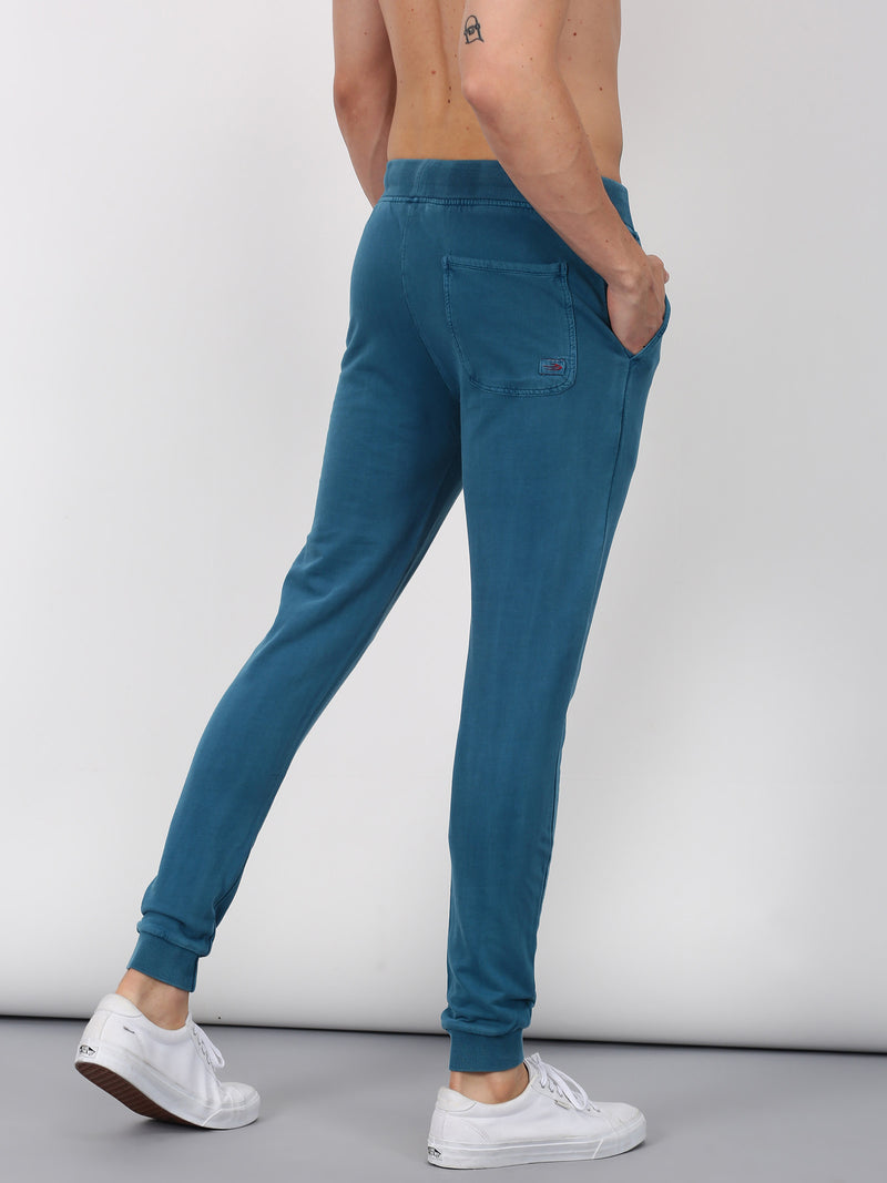 Blue Plain Casual Jogger