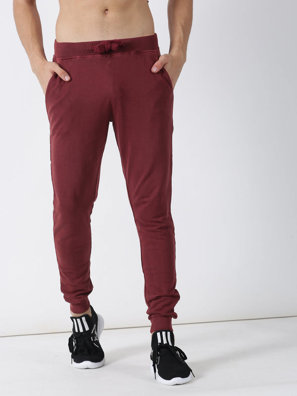 Rust Plain Casual Jogger
