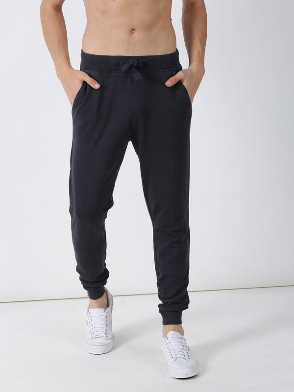 Grey Plain Casual Jogger