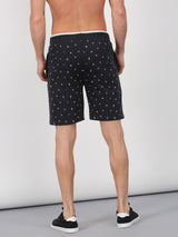 Dark Grey Printed Casual Short