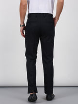 Navy Plain Smart Fit Trouser