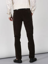 Green Plain Slim Fit Trouser