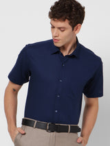 Navy Plain Formal Shirt