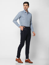 Grey Linen Plain Formal Shirt