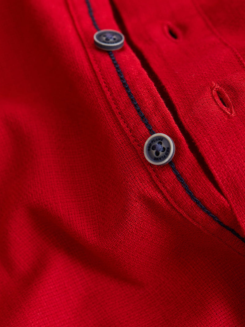 Red Plain Casual Kurta