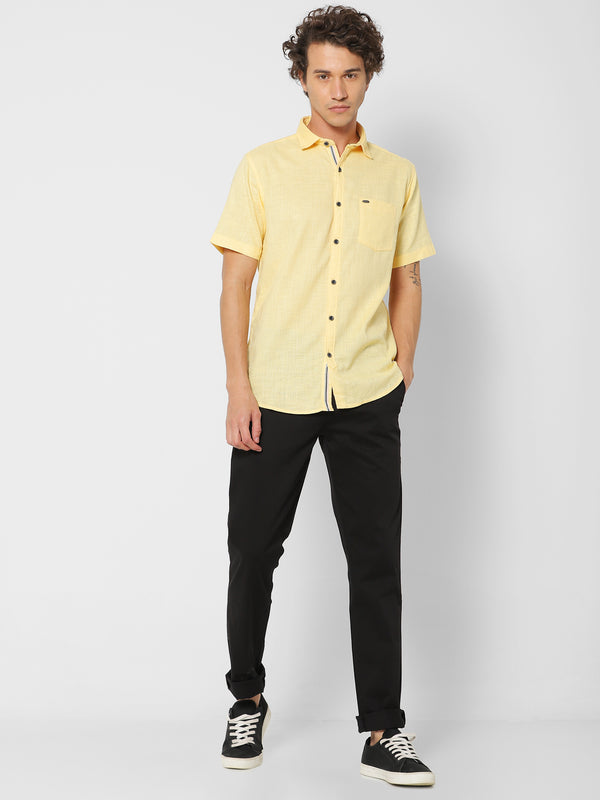Yellow Plain Casual Shirt
