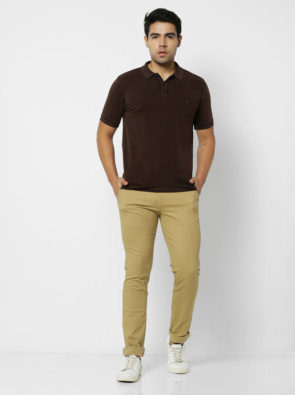 Brown Plain Polo T-Shirt