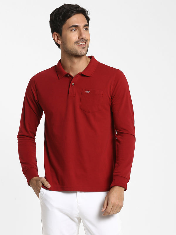Maroon Plain T-shirt