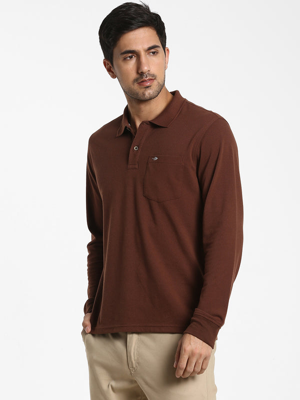 Brown Plain T-shirt
