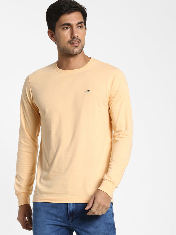 Light Orange Plain T-shirt