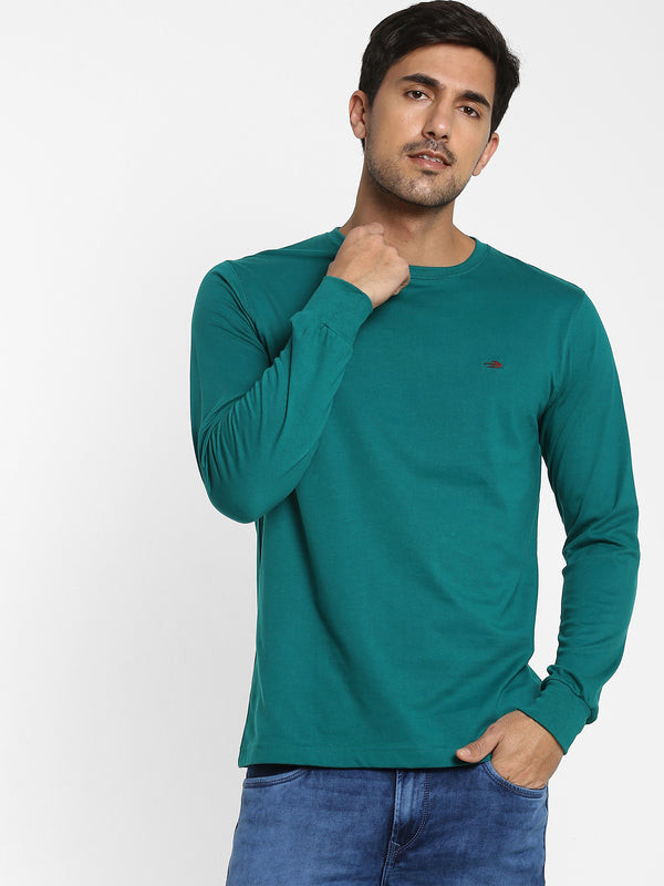 Bottle Green Plain T-shirt
