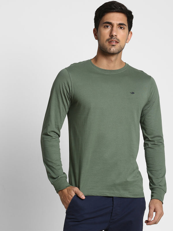 Army Green Plain T-shirt