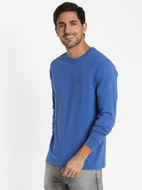 Royal Blue Printed T-shirt