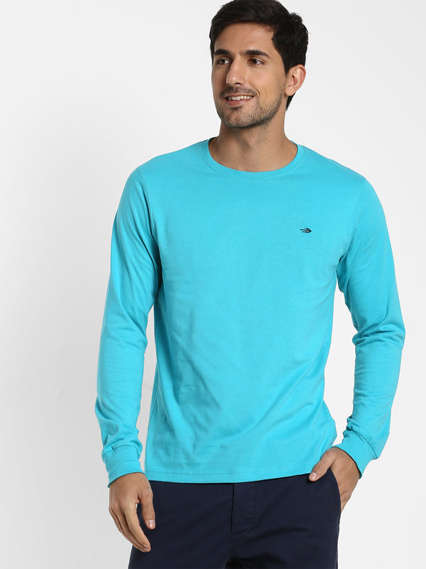 Teal Green Printed T-shirt