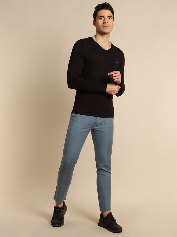 Black Plain Stretch T-Shirt