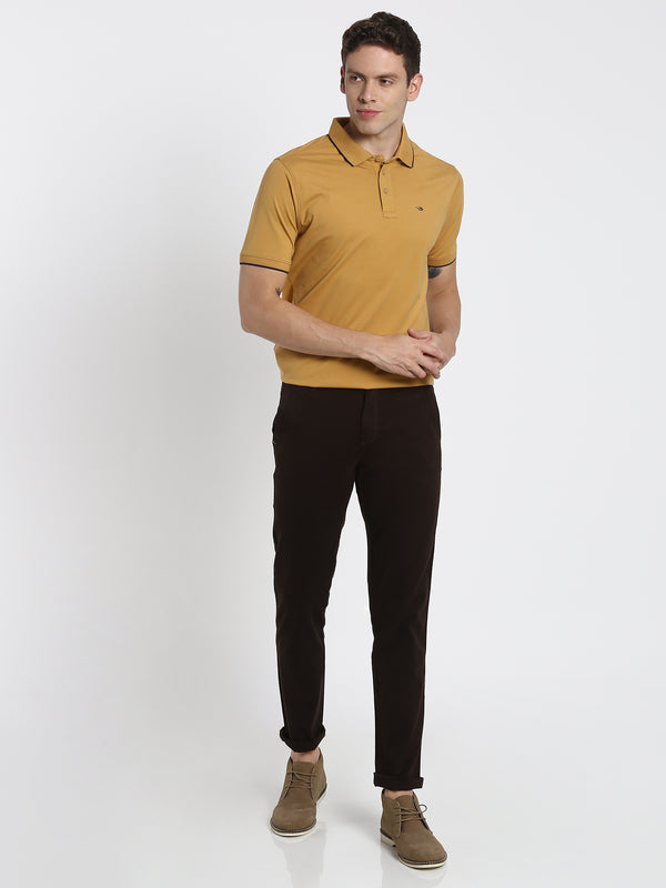 Gold Plain Polo T-Shirt