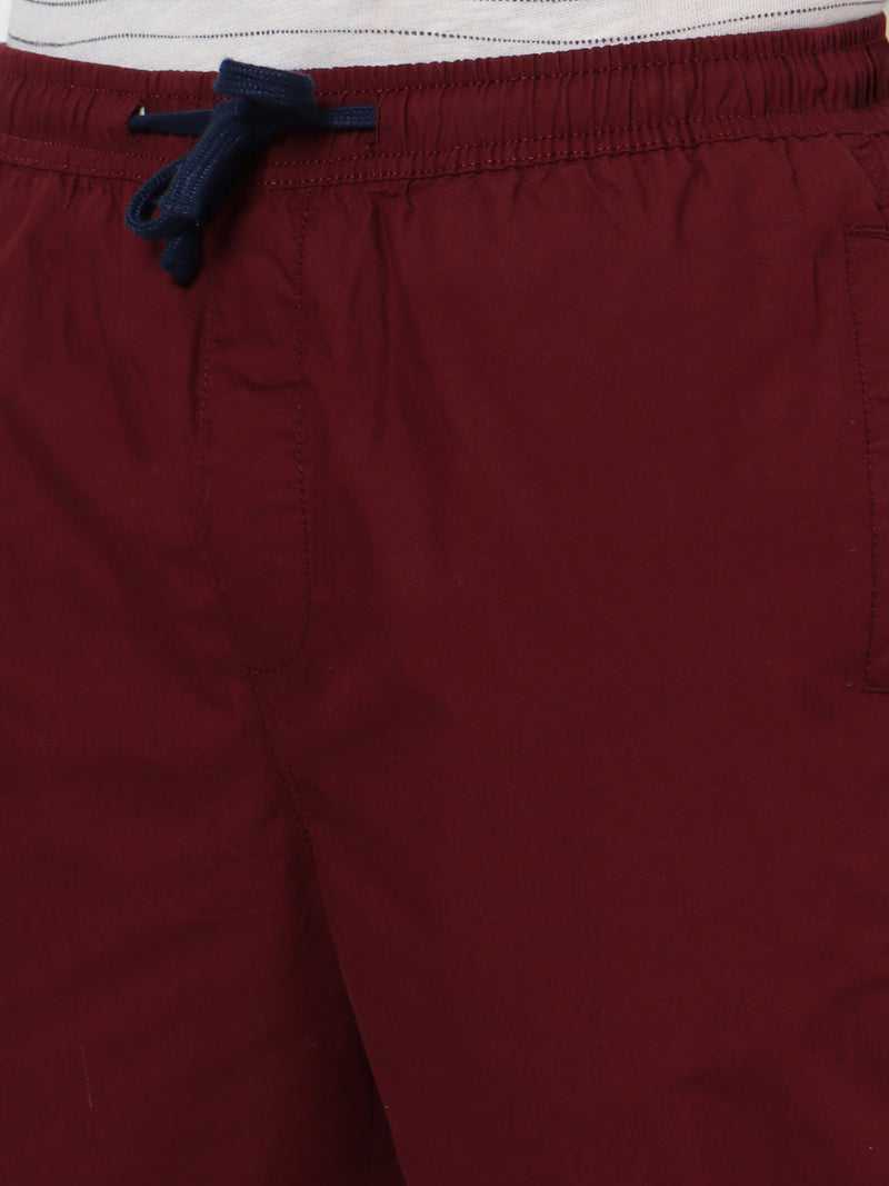 Red Plain Track Pant