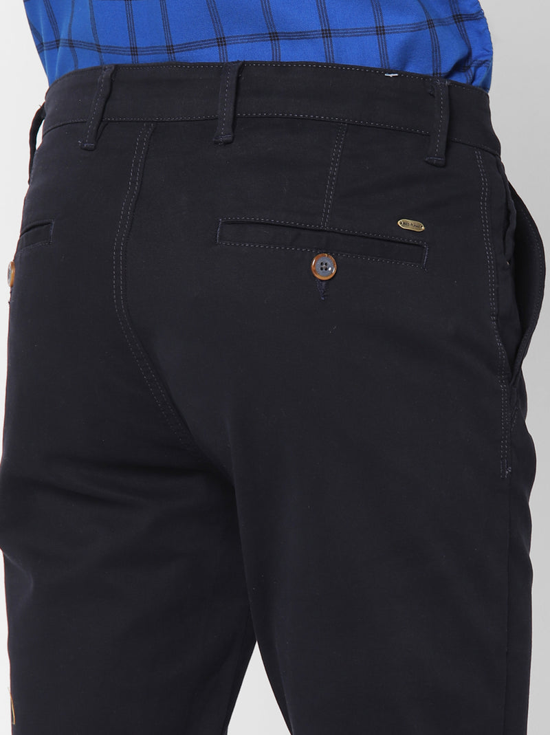 Navy Plain Stretch Ultra Slim Fit Trouser
