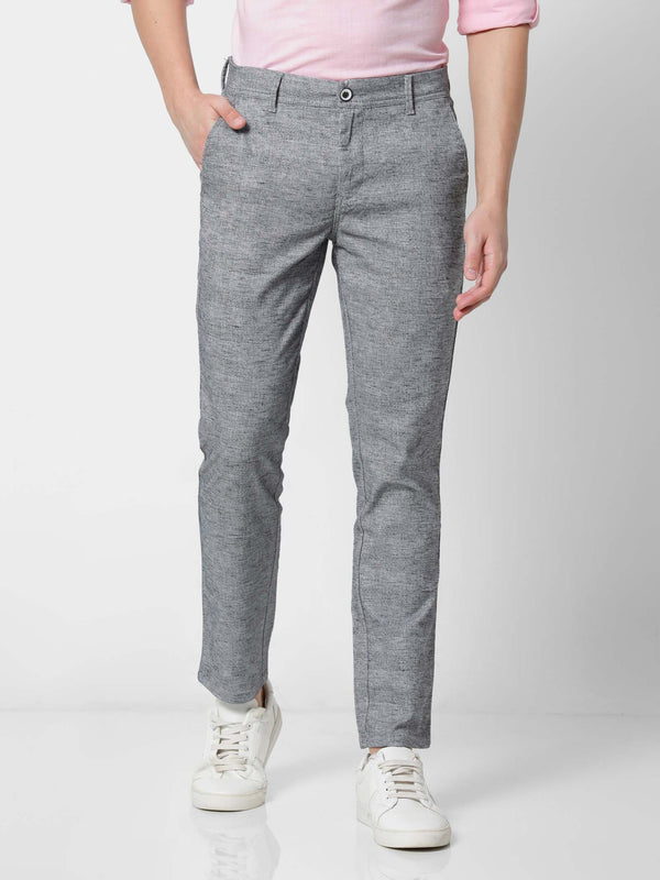 Grey  Checked Stretch Ultra Slim Fit Trouser