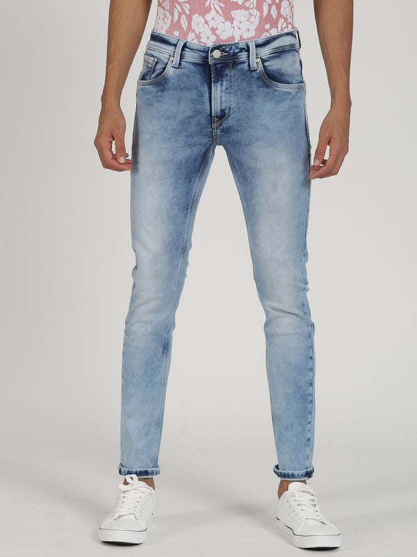 Light Blue Plain Dean Fit Jeans