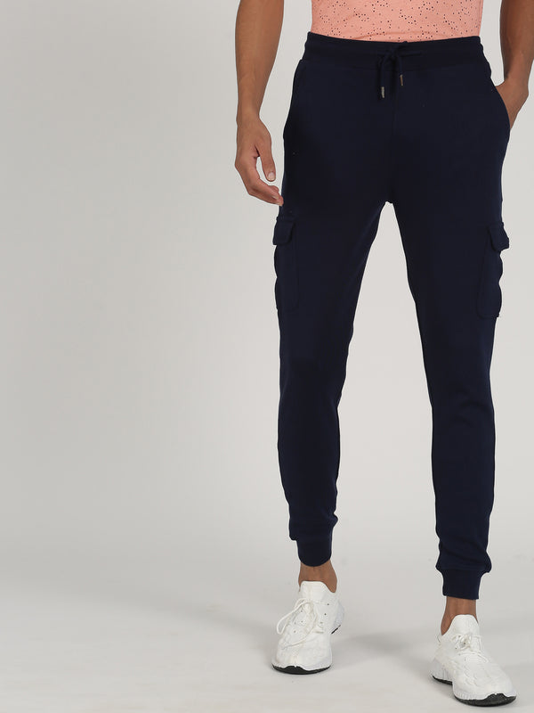 Navy Plain Casual Jogger