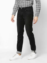 Black  Plain Stretch Dean Fit Jeans