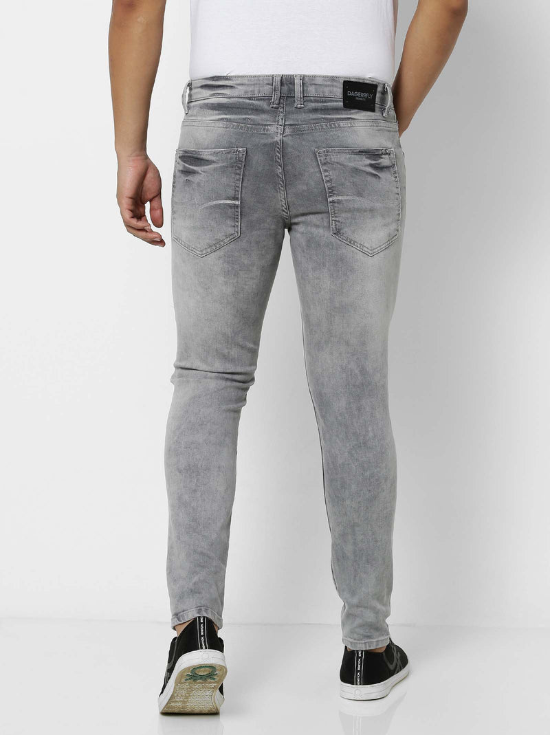 Light Grey  Plain Stretch Ultra Slim Fit Jeans