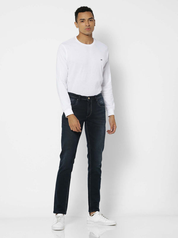 Olive  Plain Stretch Dean Fit Jeans