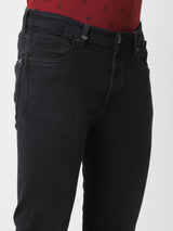 Black  Plain Stretch Ultra Slim Fit Jeans