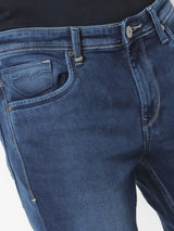 Medium Blue  Plain Stretch Dean Fit Jeans