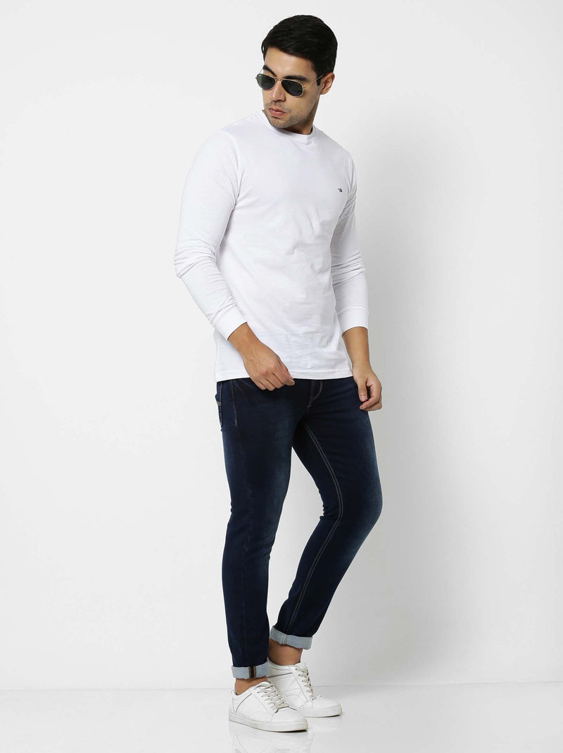 Dark Blue  Plain Stretch Ultra Slim Fit Jeans
