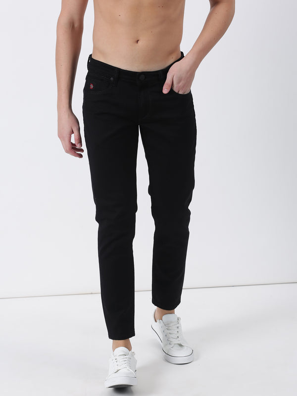 Black Plain Ultra Slim Fit Jeans