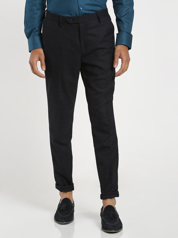 Black Checked Trouser
